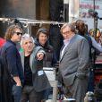 Abel Ferrara, Gérard Depardieu sur le tournage du film autour de l'affaire Dominique Strauss-Kahn à New York, le 25 avril 2013.