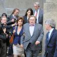 Gérard Depardieu et Jacqueline Bisset à New York le 3 mai 2013.