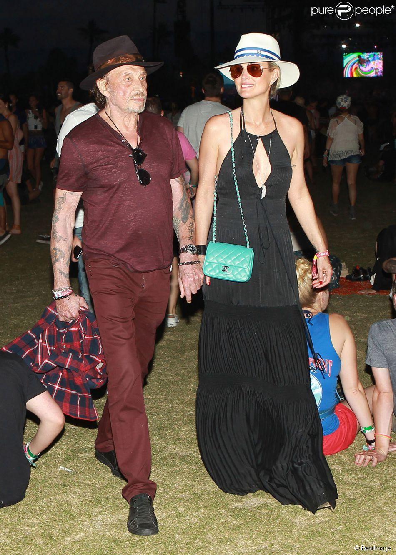 Johnny Hallyday et Laeticia à Coachella  Amoureux stylés avec Diane Kruger