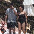 Exclusif - Tia Mowry à Cabo San Lucas avec son mari Cory Hardrict, le 19 avril 2014.