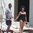 Exclusif - Tia Mowry et son mari Cory Hardrict en vacances à Cabo San Lucas au Mexique, le 19 avril 2014.