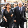 Dominique Strauss-Kahn et Anne Sinclair arrivent à la cour pénale de NY, le 23 août 2011