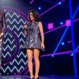 Jenifer divine dans une robe Peter Pilotto auprès de Mika en live dans The Voice 3 sur TF1 le samedi 5 avril 2014