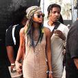 Chanel Iman et A$AP Rocky à Coachella, le 12 avril 2014.