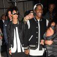 Chanel Iman et A$AP Rocky à New York, le 9 septembre 2013.