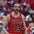 Joakim Noah lors du match de playoffs entre les Bulls de Chicago et les Wizards de Washington au Verizon Center de Washington, le 25 avril 2014