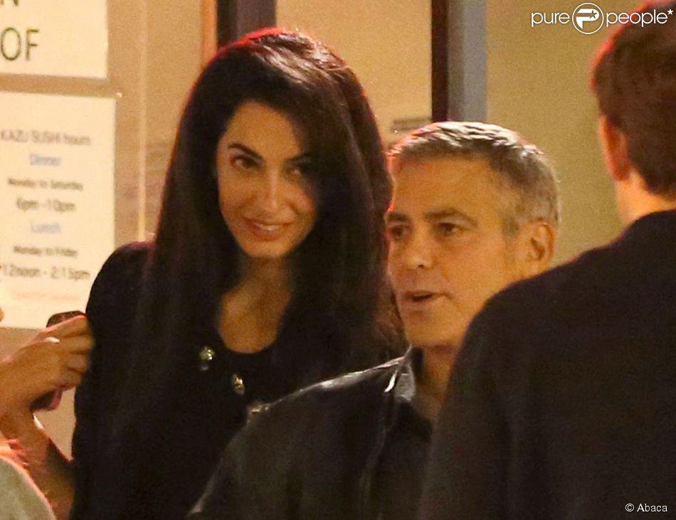 Exclusive - George Clooney et Amal Alamuddin à Studio City, Los Angeles, le 27 mars 2014.