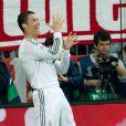 Cristiano Ronaldo lors de la demi-finale retour de la Ligue des champions à l'Allianz Arena de Munich entre le Bayern Munich et le Real Madrid, match remporté 4-0 par les Madrilènes le 29 avril 2014