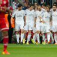L'équipe du Real Madrid lors de la demi-finale retour de la Ligue des champions à l'Allianz Arena de Munich entre le Bayern Munich et le Real Madrid, match remporté 4-0 par les Madrilènes le 29 avril 2014