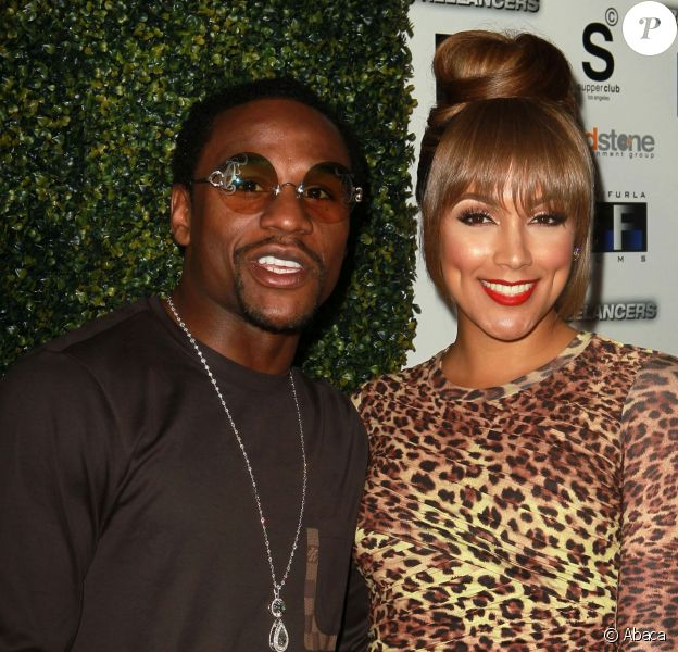 Floyd Mayweather, Jr. et Shantel Christine Jackson à Los Angeles, en août 2012.