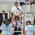 Iker Casillas lors du gala de charité organisé par Rafael Nadal et Iker Casillas à Madrid en Espagne le 2 mai 2014 avant le Master de Madrid