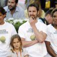 Rafael Nadal, Dani Rovira et Serena Williams lors du gala de charité organisé par Rafael Nadal et Iker Casillas à Madrid en Espagne le 2 mai 2014 avant le Master de Madrid