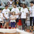 Rafael Nadal, Dani Rovira, Serena Williams et Rudy Fernetez lors du gala de charité organisé par Rafael Nadal et Iker Casillas à Madrid en Espagne le 2 mai 2014 avant le Master de Madrid