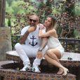 """Christian Audigier et sa petite-amie Nathalie Sorensen reçoivent pour la """"Soirée en blanc"""" avec Stephen Dorff dans leur ranch Malibu dans le canyon de Topanga, le 4 mai 2014."""