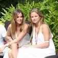"""Nathalie Sorensen et une invitée - Christian Audigier et sa petite-amie Nathalie Sorensen reçoivent pour la """"Soirée en blanc"""" avec Stephen Dorff dans leur ranch Malibu dans le canyon de Topanga, le 4 mai 2014."""