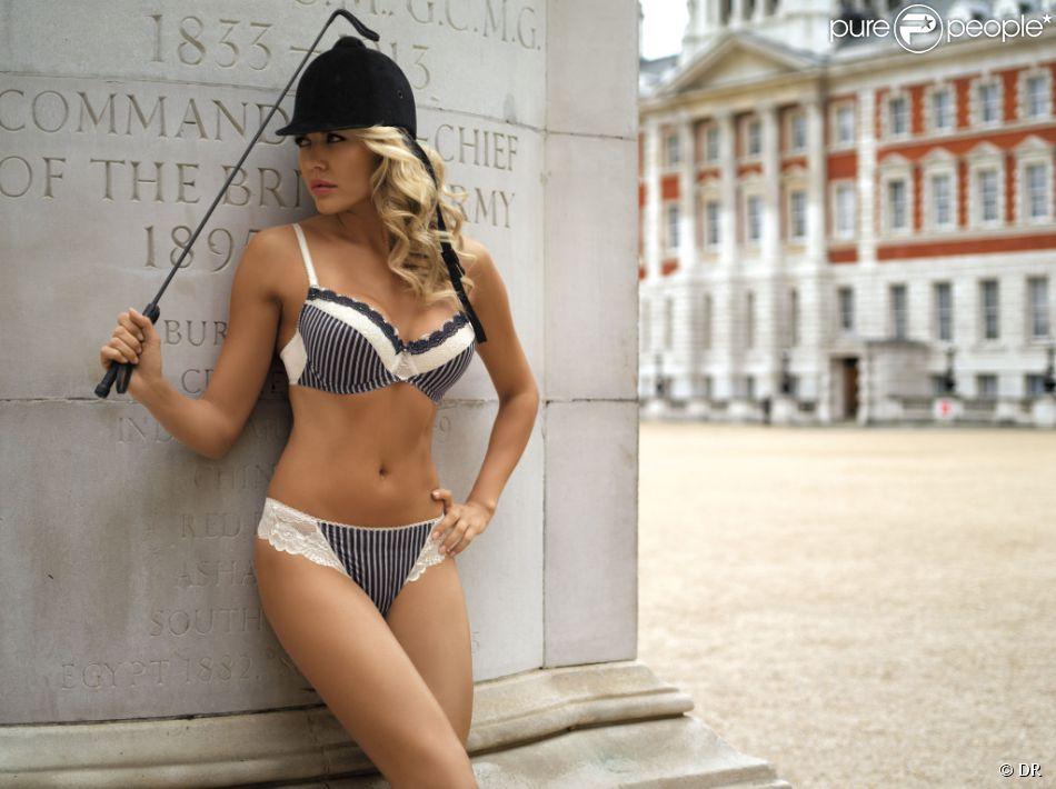 Tetyana Veryovkina, égérie sexy de la marque de lingerie Kinga.