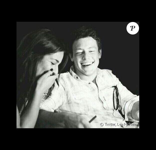 Lea Michele et Cory Monteith. Photo dévoilée le 11 mai 2014 par l'actrice sur Twitter.