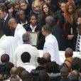 Sortie d'église pour les obsèques de Gérald Babin à Nemours le 5 avril 2013.