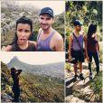 Shy'm : Table mountain avec son ami Ferdi à Cape Town, en Afrique du sud