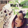 Shy'm :Selfie avec une chouette pendant ses vacances en Afrique du sud
