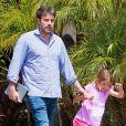 Ben Affleck et sa fille Violet à Santa Monica, e 19 avril 2014.