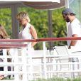 Pamela Anderson et son mari Rick Salomon sont descendus à l'hôtel Eden Roc au Cap d'Antibes, le 13 mai 2014. Le couple est venu pour participer au 67e Festival du Film de Cannes.