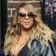 """Mariah Carey arrive sur le plateau de l'émission """"The Late Show With David Letterman"""" à New York. Le 7 mai 2014."""