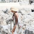 Pamela Anderson lors d'une après-midi plage à Cannes avec son mari Rick Salomon, le 14 mai 2014.