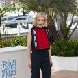 Cate Blanchett (en Delpozo) lors du photocall pour le film Dragons 2, au 67e Festival de Cannes, le 16 mai 2014.