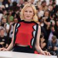 Cate Blanchett lors du photocall pour le film Dragons 2, au 67e Festival de Cannes, le 16 mai 2014.