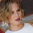 Jennifer Lawrence lors du photocall pour Hunger Games 3 : Mockingjay (La Révolte) à l'occasion du 67e Festival de Cannes, Majestic Hotel, le 17 mai 2014.