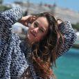 Exclusif - Alice David pose pour Allociné/PurePeople sur le ponton de la plage du Majestic en partenariat avec le groupe Barrière, le 18 mai 2014.