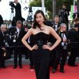 """Liu Wen à la montée des marches du film """"Deux jours, une nuit"""" lors du 67 ème Festival du film de Cannes le 20 mai 2014."""