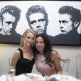 Sandra Zeitoun-de Matteis et la sublime Rosie Huntington-Whiteley au dîner organisé par Sandra Zeitoun-de Matteis, au Five Seas Hotel de Cannes, en l'honneur du site Viderdressing, le 21 mai 2014.