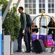 Scottie Pippen à l'aéroport du Bourget, s'apprête à s'envoler pour Florence. Le 24 mai 2014.