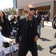 Le rappeur Tyga arrive à Florence pour assister au mariage de Kanye West et Kim Kardashian. Le 24 mai 2014.