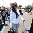 Blac Chyna arrive à Florence pour assister au mariage de Kanye West et Kim Kardashian. Le 24 mai 2014.