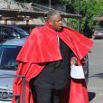 Andre Leon Talley arrive au Fort Belvedere pour assister au mariage de Kim Kardashian et Kanye West. Florence, le 24 mai 2014.