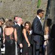 Scottie Pippen et les invités du mariage de Kim Kardashian et Kanye West arrivent au Fort Belvedere. Florence, le 24 mai 2014.