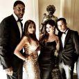 Scottie et Larsa Pippen, Carla DiBello et Olivier Rousteing, prêts pour le mariage de Kim Kardashian et Kanye West à Florence. Le 24 mai 2014.