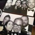 Jean Touitou (lunettes, au milieu) assiste au mariage de Kim Kardashian et Kanye West. Florence, le 24 mai 2014.