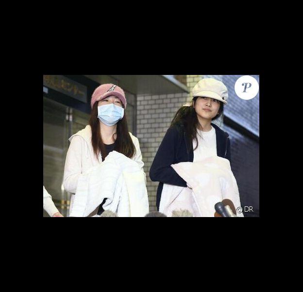 Rina Kawaei et Anna Iriyama (stars de la pop japonaise) ont été agressées par l'un de leurs fans, dimanche 25 mai 2014.