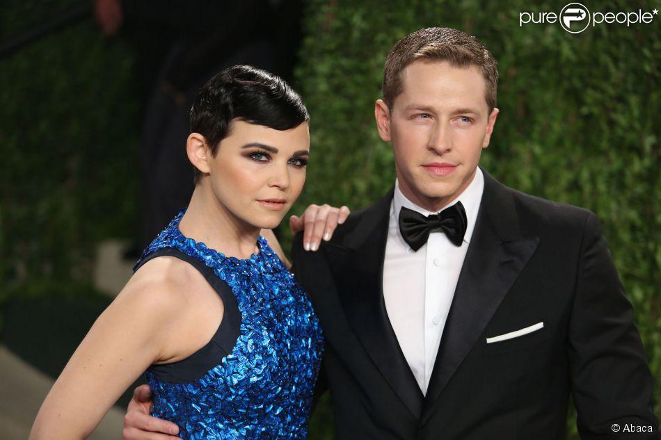 Ginnifer Goodwin et Joshua Dallas à la soirée Vanity Fair Oscar Party 2013 à West Hollywood, Los Angeles, le 24 février 2013.