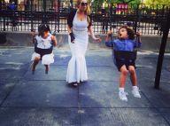 Mariah Carey, diva coincée : Virée balançoire avec ses bambins en robe moulante