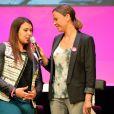 Marion Bartoli et Sandrine Quétier au Prix Ambassadeur ELA 2014 à la Cité des Sciences et de l'Industrie au Parc de la Vilette à Paris le 4 juin 2014