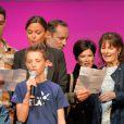 Sandrine Quétier, Grégory Questel, Flavie Péan, Cécilia Hornus et Grégoire au Prix Ambassadeur ELA 2014 à la Cité des Sciences et de l'Industrie au Parc de la Vilette à Paris le 4 juin 2014