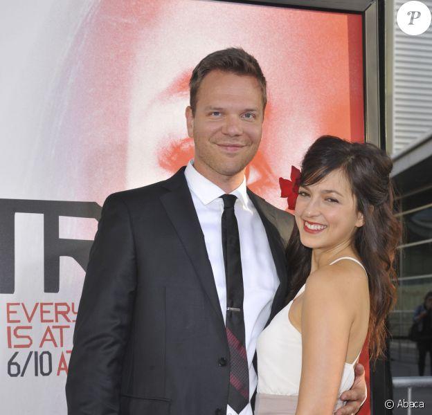 """Jim Parrack et Ciera Danielle Parrack à l'avant-première de la saison 5 de """"True Blood"""", à Los Angeles le 30 mai 2012."""