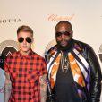 Justin Bieber et Rick Ross au showcase de Rick Ross au Gotha Club de Cannes, le 19 mai 2014.