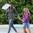 Exclusif - Jennifer Garner emmène ses enfants Violet, Seraphina et Samuel déjeuner à l'hôtel Bel-Air à Beverly Hills, le 7 juin 2014.