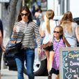 Exclusif - Jennifer Garner et sa fille Violet à Santa Monica, le 6 juin 2014.